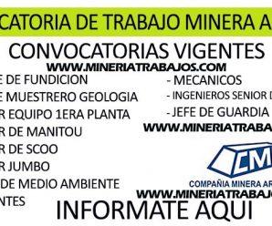 OPORTUNIDAD DE TRABAJO MINERA ARES SAC REQUIERE PERSONAL PARA PROYECTO MINERO INFÓRMATE AQUÍ