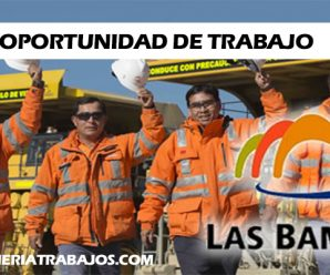 CONVOCATORIA DE TRABAJO EN MINERA LAS BAMBAS – RECLUTAMIENTO DE PERSONAL