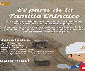 CONVOCATORIA DE TRABAJO EN MINERA CHINALCO REQUIERE CONTRATAR PERSONAL