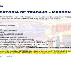 TRABAJOS PARA MINERIA EN SAN MARTIN CONTRATISTAS – RECLUTAMIENTO DE PERSONAL PARA PROYECTO MINERO