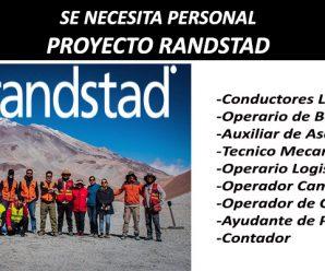 SE NECESITA PERSONAL EN RANDSTAD SERVICIOS PROYECTOS