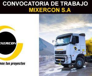 MIXERCON S.A – INFORMACIÓN DE PUESTOS DE TRABAJO