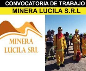 MINERA LUCILA S.R.L CONVOCATORIA LABORAL