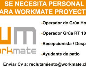 WORKMATE REQUIERE CONTRATAR PERSONAL PARA PROYECTO MINERO