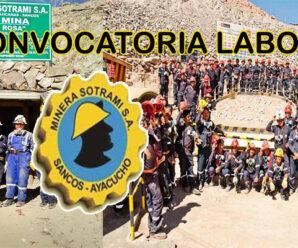 CONVOCATORIA DE TRABAJO MINERA SOTRAMI