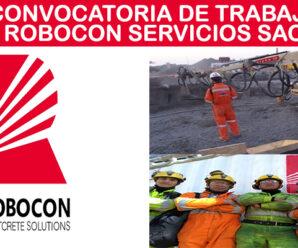 INFORMACION DE PUESTOS LABORALES EN ROBOCON SERVICIOS SAC
