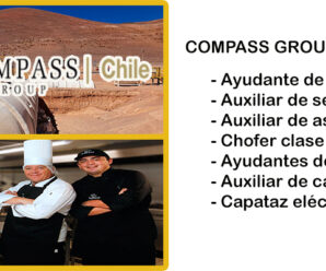 COMPASS GROUP CHILE SOLICITA PERSONAL PARA FAENA MINERA